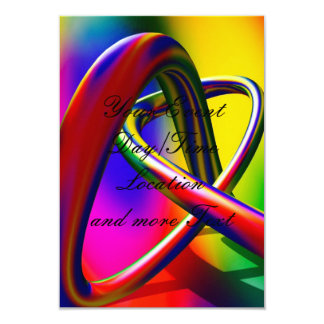 """more colors in life 3.5"""" x 5"""" invitation card"""