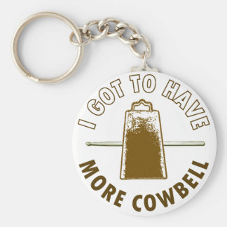 MORE COWBELL BASIC ROUND BUTTON KEY RING