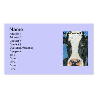 More Cowbell Double-Sided Standard Business Cards (Pack Of 100)