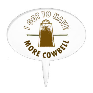 MORE COWBELL CAKE TOPPERS
