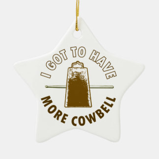 MORE COWBELL CHRISTMAS ORNAMENT