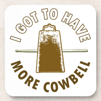 MORE COWBELL DRINK COASTERS