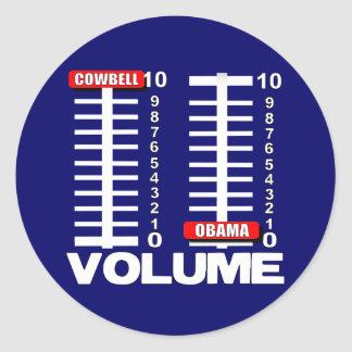 More Cowbell - Less Obama Sticker