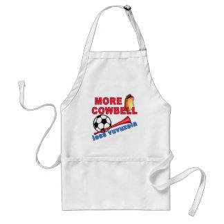 More Cowbell Less Vuvuzela Tshirts, Mugs Adult Apron