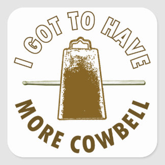 MORE COWBELL SQUARE STICKER