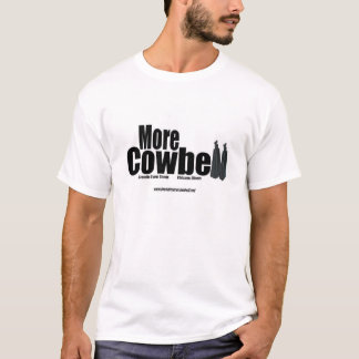 More Cowbell White Logo T T-Shirt