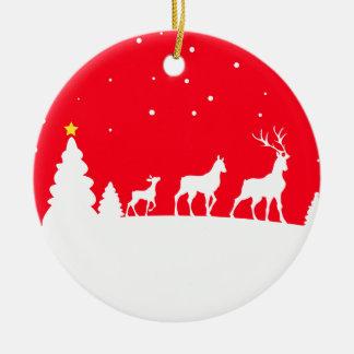 more deer family christmas ornament