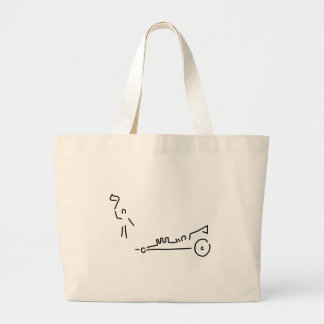 more dragster motosport run car jumbo tote bag