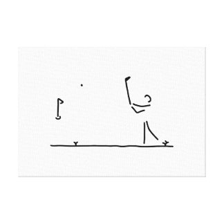 more golfer gulf-play anticipated payment stretched canvas print