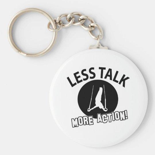 More Gymnastics  less talk Basic Round Button Key Ring