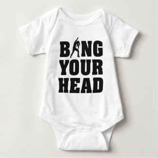 more headbanger fear for your head heavy metal fan baby bodysuit