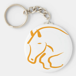 more hunter more jumper basic round button key ring