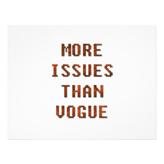 More issues than Vogue 21.5 Cm X 28 Cm Flyer