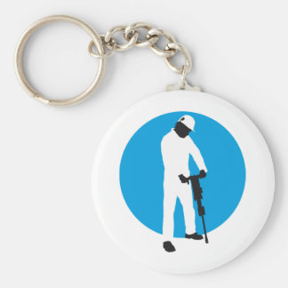 more jackhammer more worker basic round button key ring
