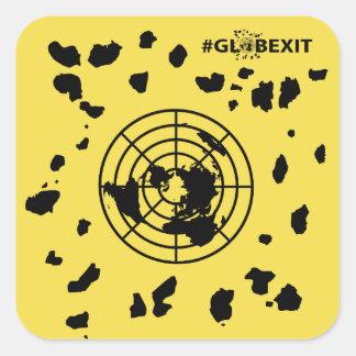 More Land #GLOBEXIT Round Corner Stickers