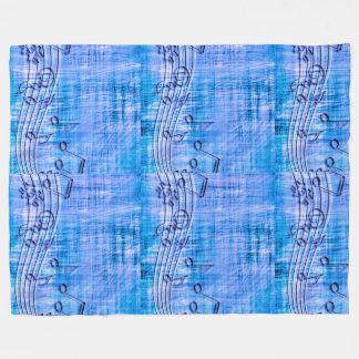 more music blue fleece blanket
