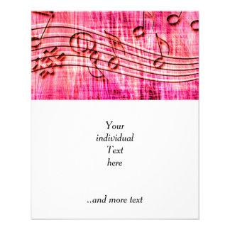 more music pink 11.5 cm x 14 cm flyer