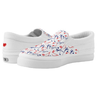 More Musical Notes Printed Shoes
