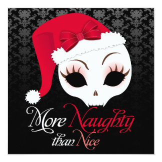 """More Naughty Than Nice"" Holiday Event Invitations"
