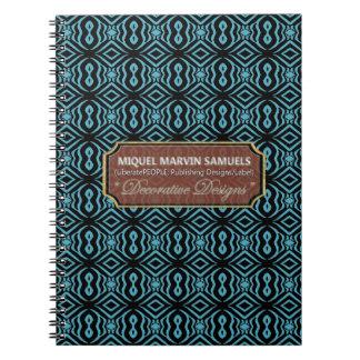 More Peanuts Zebra Pattern Blue Black Notebook