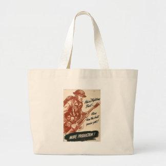 More Production World War II Jumbo Tote Bag