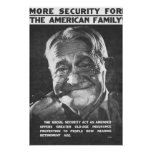 More Security For The American Family Poster