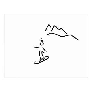 more snowboarder ski-drive winter sports postcard