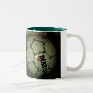 more soccer is life Two-Tone mug