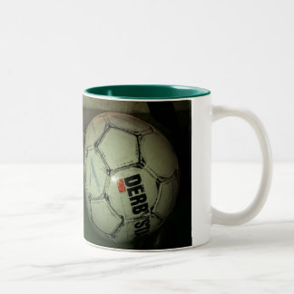 more soccer is life Two-Tone coffee mug