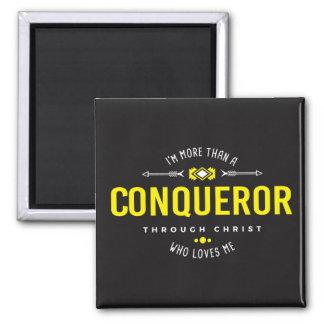 """""""More Than A Conqueror"""" Magnet"""