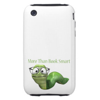 More Than Book Smart Book Worm iPhone 3 Tough Covers