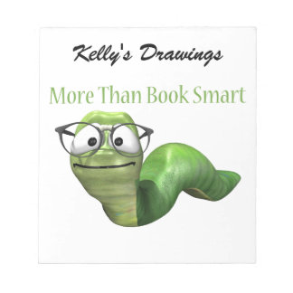 More Than Book Smart Book Worm Notepad