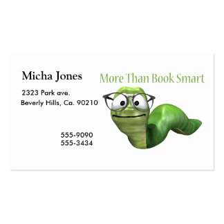 More Than Book Smart Book Worm Pack Of Standard Business Cards
