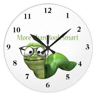 More Than Book Smart Book Worm Wallclock