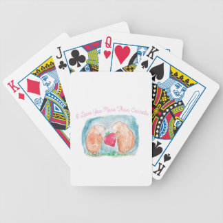 More than Carrots Guinea Pigs In Love Painting Bicycle Playing Cards