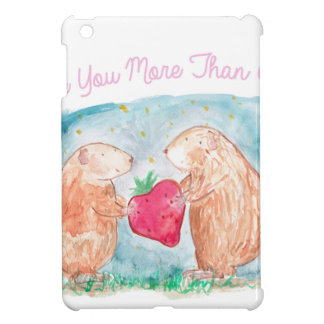 More than Carrots Guinea Pigs In Love Painting Case For The iPad Mini