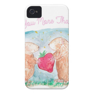 More than Carrots Guinea Pigs In Love Painting Case-Mate iPhone 4 Cases