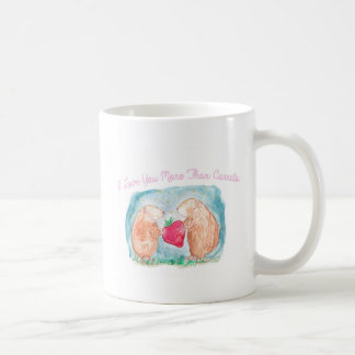 More than Carrots Guinea Pigs In Love Painting Coffee Mug
