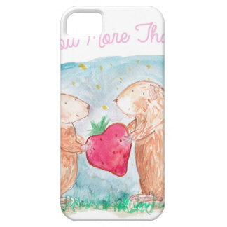 More than Carrots Guinea Pigs In Love Painting iPhone 5 Case
