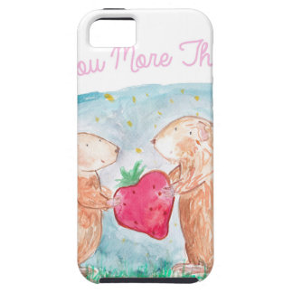 More than Carrots Guinea Pigs In Love Painting iPhone 5 Cover