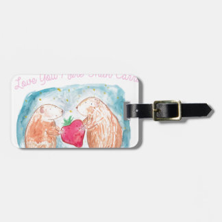 More than Carrots Guinea Pigs In Love Painting Luggage Tag