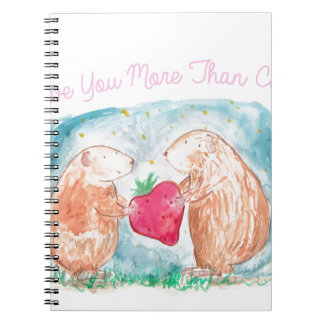 More than Carrots Guinea Pigs In Love Painting Notebooks