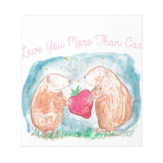 More than Carrots Guinea Pigs In Love Painting Notepads