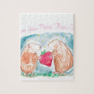 More than Carrots Guinea Pigs In Love Painting Puzzle
