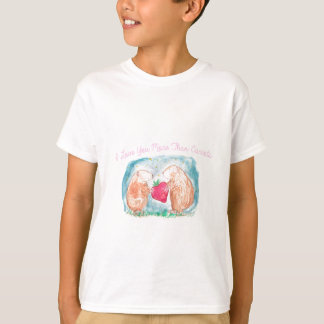 More than Carrots Guinea Pigs In Love Painting T-Shirt