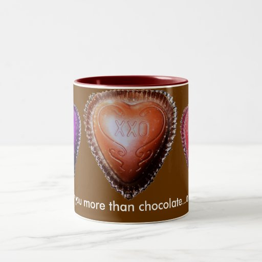 More Than Chocolate Two-Tone Coffee Mug