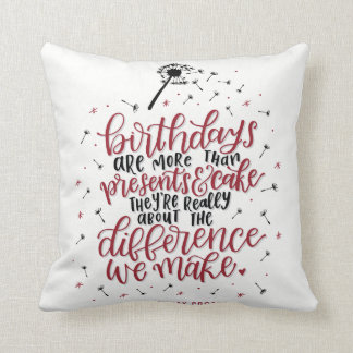 More Than Presents & Cake Pillow