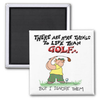 More Things Than Golf Square Magnet