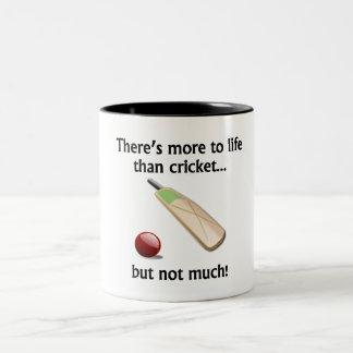 More To Life Than Cricket Two-Tone Coffee Mug