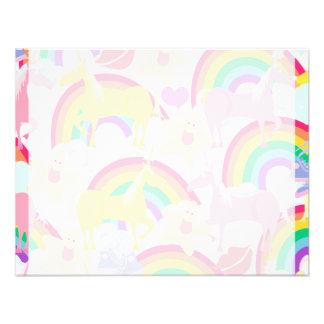 More Unicorns and Rainbows Custom Invitations